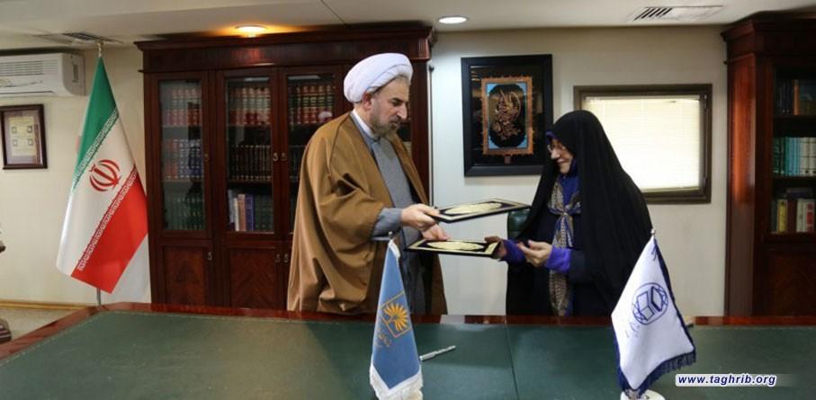 امضای تفاهم نامه همکاری بین سازمان اسناد و کتابخانه ملی و دانشگاه مذاهب اسلامی + عکس
