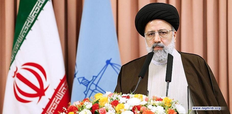 رئيس القضاء الايراني الجديد يتسلم مهام عمله