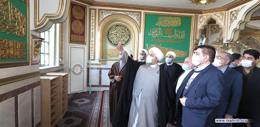 بازدید دبیرکل مجمع جهانی تقریب مذاهب اسلامی از مسجد جامع شافعی کرمانشاه | تصاویر
