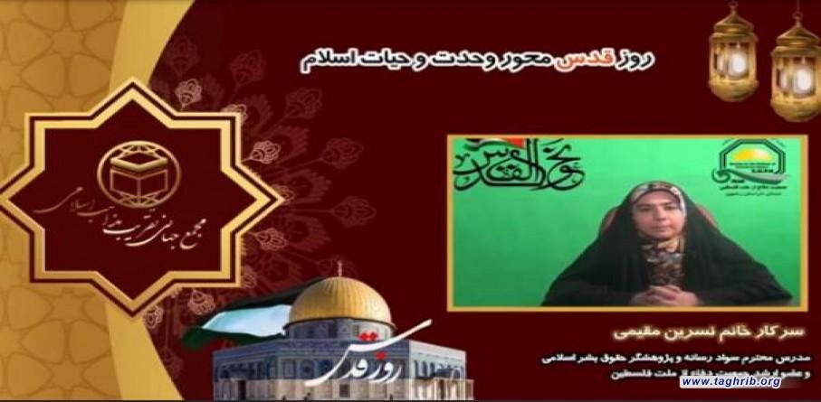 عضو ارشد جمعیت دفاع از ملت فلسطین: نام و یاد شهید سلیمانی با آرمان قدس عجین شده است