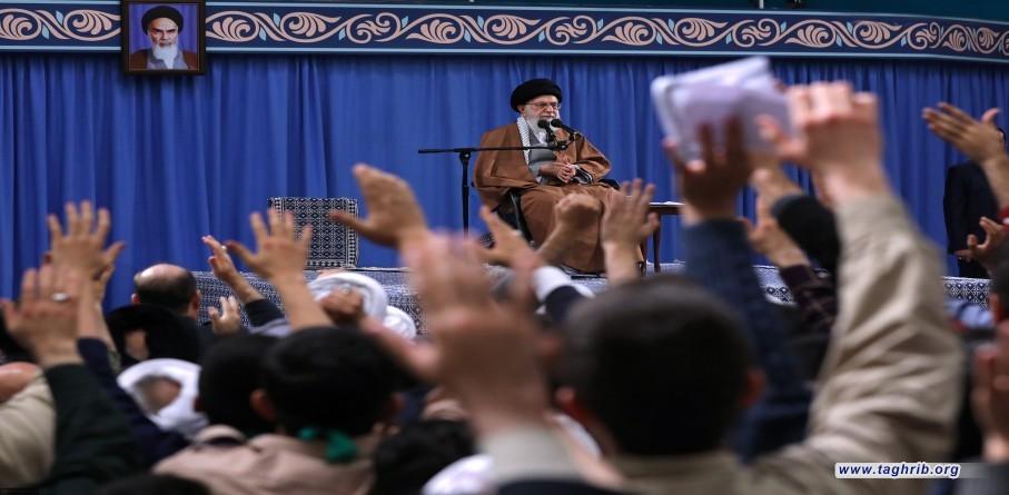 لقاء أهالي محافظة آذربيجان الشرقية بالإمام الخامنئي