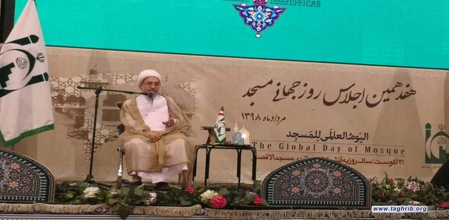 آیت الله اراکی در هفدهمین اجلاس سالانه روز جهانی مسجد: براساس آیات و روایات مسجد بیت الله است + تصاویر