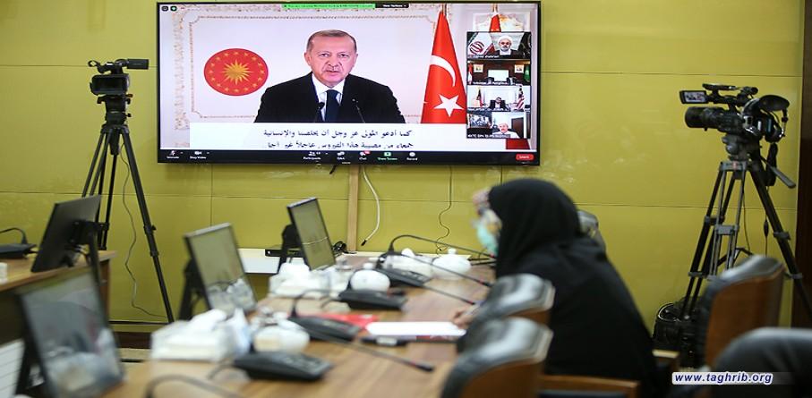 أردوغان :على المسلمين أن يطرحوا خلافاتهم جانباً وأن يركزوا أكثر على الجوانب المشتركة بينهم