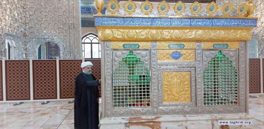 حضور دبیرکل مجمع تقریب بر مزار شهید آیت الله حکیم