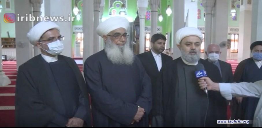 استقبال گرم و صميمي علماي اهل سنت عراق از حجت الاسلام و المسلمين دکتر شهرياري دبير كل مجمع جهانی تقريب مذاهب اسلامی در بغداد | فیلم
