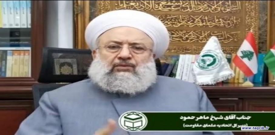 الشيخ ماهر حمود: الأعداء اثاروا الحروب في اليمن والشام لتشديد الفتن والتغافل عن فلسطين