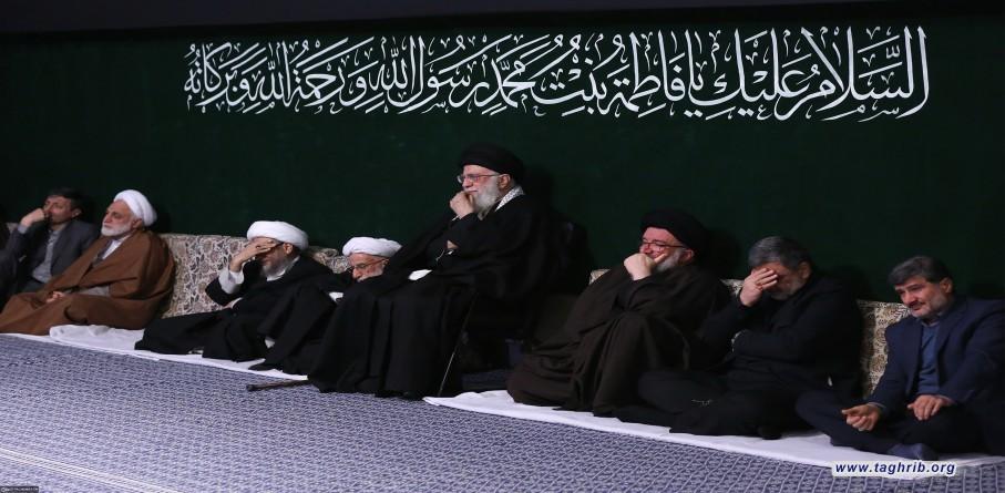 ليلة العزاء الأولى بمناسبة ذكرى استشهاد السيدة فاطمة (عليها السلام) بحضور الإمام الخامنئي دام ظله