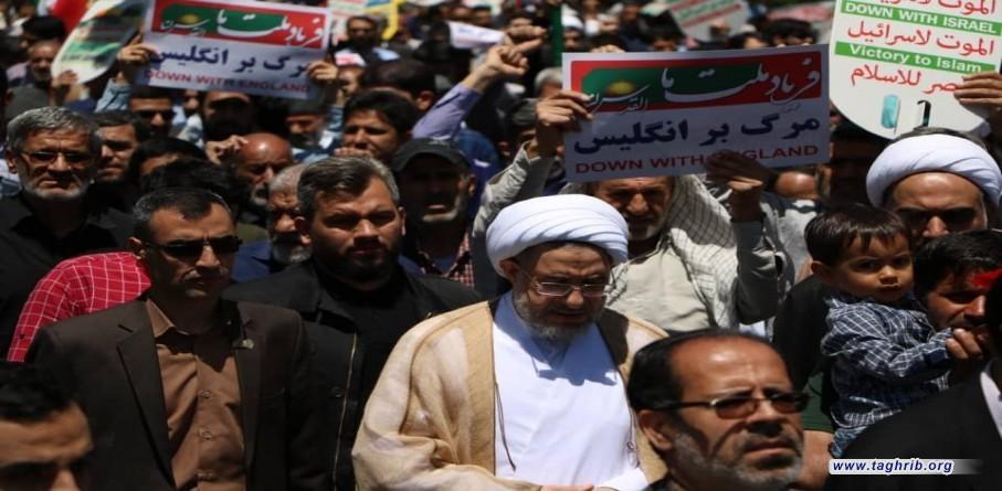 كبار علماء السنة والشيعة و المسؤولين الايرانيين يشاركون بمسيرات يوم القدس