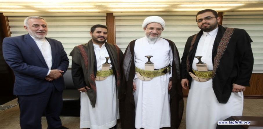 """الأمين العام للمجمع العالمي للتقريب بين المذاهب الإسلامية يستقبل ممثل """"أنصار الله"""""""