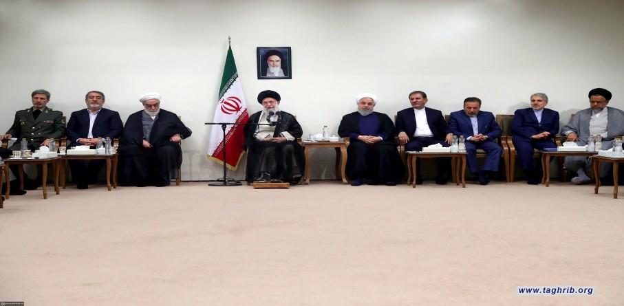 دیدار رئیس جمهور و اعضای هیئت دولت با رهبر انقلاب اسلامی