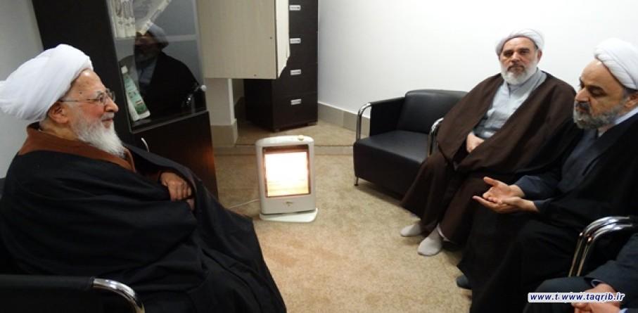 الامين العام للمجمع العالمي للتقريب بين المذاهب الاسلامية يلتقي مع آية الله جوادي آ ملي