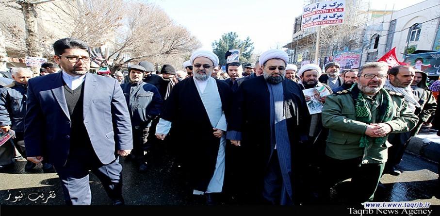حجة الاسلام والمسلمين سماحة الشيخ شهرياري يشارك في مراسم ذكرى انتصار الثورة الاسلامية في ايران