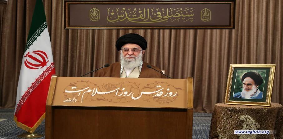 سخنرانی تلویزیونی رهبر معظم انقلاب اسلامي به مناسبت روز جهانی قدس