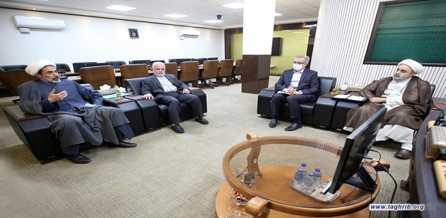 لقاء ممثل قائدة الثورة الاسلامية في موسكو مع الأمين العام حجت الاسلام والمسلمين شهرياري