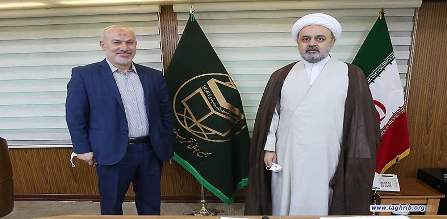 حجة الاسلام والمسلمين الدكتور حميد شهرياري يلتقي مع ممثل حركة الجهادالاسلامي لدى ايران