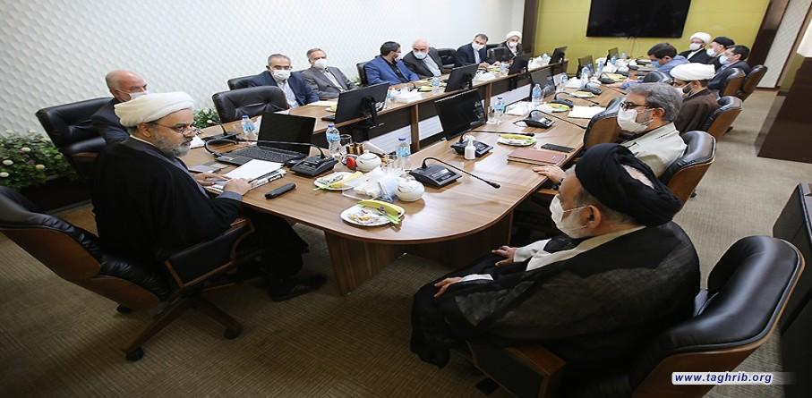 """حجة الاسلام و المسلمين الدكتور """"حميد شهرياري"""" يجتمع مع اعضاء مجلس المعاونين المجمع"""