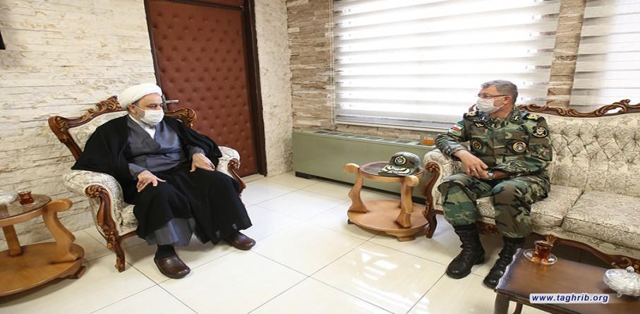 """الأمين العام الدكتور """"حميد شهرياري"""" يستقبل العميد امير محمد"""