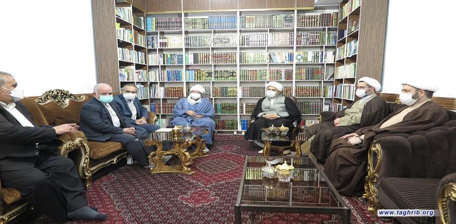 """حجة الاسلام و المسلمين الدكتور """"حميد شهرياري"""" يلتقي مع امام جمعة """"مدينة روانسر"""""""