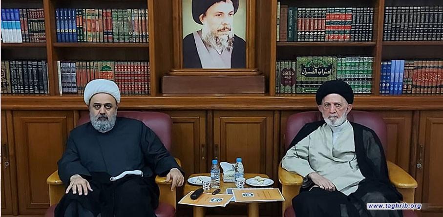 """حجة الاسلام و المسلمين """" شهرياري"""" يلتقي مع اية الله السيد محمد الحيدري"""