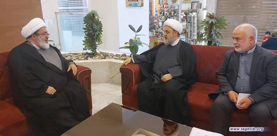 """الدكتور """" شهرياري"""" يلتقي مع رئيس المجلس الوطني للاديان في العراق الدكتور یوسف الناصری"""