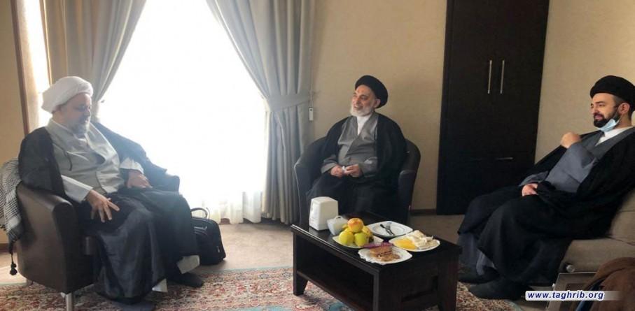 لقاء الدكتور حميد شهرياري مع حجة الاسلام والمسلمين السيد القبانجي (امام جمعة النجف الأشرف) والسيد فادي (رئيس مركز الامة الواحدة ـ لبنان)
